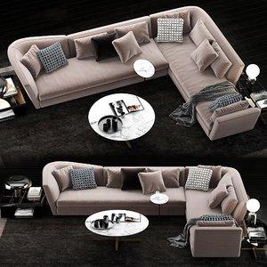 3D minotti seymour sofa