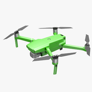 3D model quadcopter aerial drone gimbal