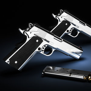 3D pistol colt 1911