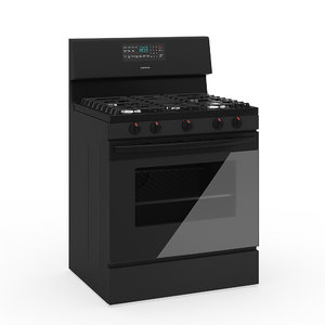 freestanding gas oven 3D model
