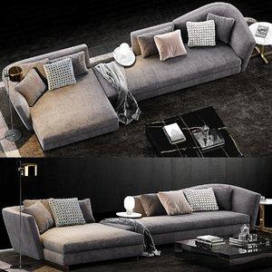 3D minotti seymour sofa 2