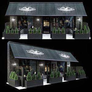 summer cafe 3D