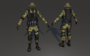 soldier shoes 3D