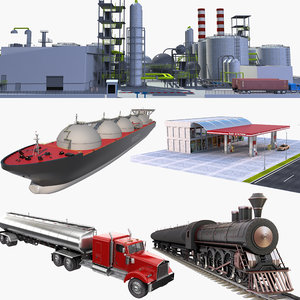 3D peak oil refinery 2