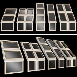 3D roof windows skylights model