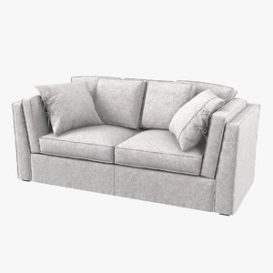 settebello salotti modern sofa 3D model