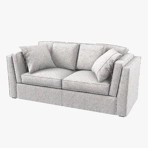 settebello salotti modern sofa 3D model