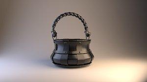 3D model medieval metallic