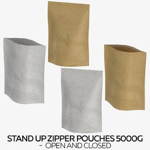 stand zipper pouches 5000g 3D