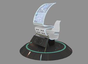 sci fi console 3D