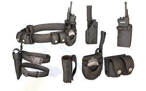 3D police belt equipments gear