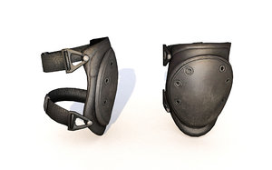 knee pads soldier 3D model