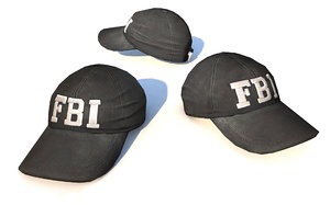 fbi cap 3D model