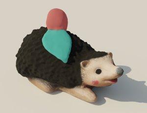 garden hedgehog 3D model