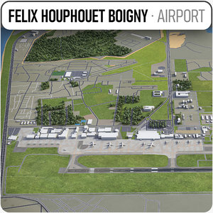 felix houphouet boigny international 3D
