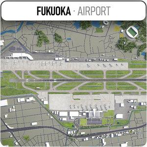 fukuoka airport - 3D model