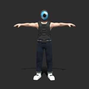 3D person mask model