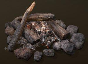 3D bonfire model