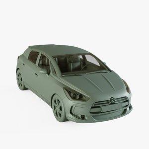 citroen car auto 3D