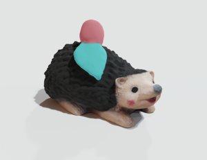 print garden hedgehog 3D model
