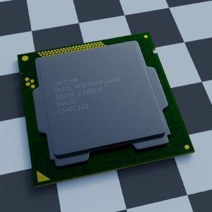 3D processor socket 1155 model
