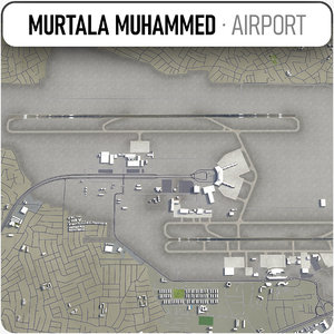 3D murtala muhammed international airport model