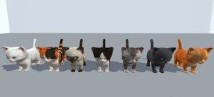 kitten 9 animations 3D
