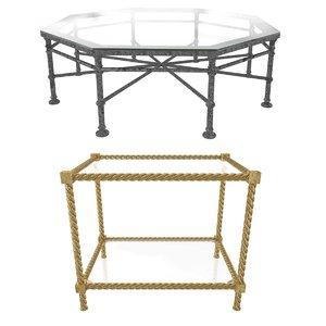 2 tables soane eichholtz 3D model