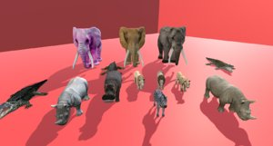 3D pack wild animals 13 model