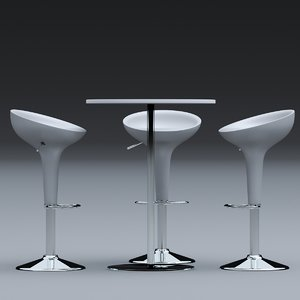 3D seating stool modern contemporary