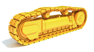 excavator track 3D model