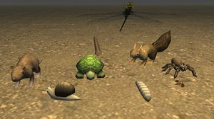 critter pack animals rigged 3D model