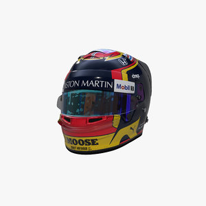 3D model albon 2020 helmet