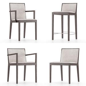3D carlotta armchair model