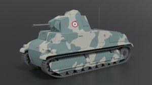 french somua s35 tank 3D model