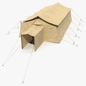 3D army temper tent model