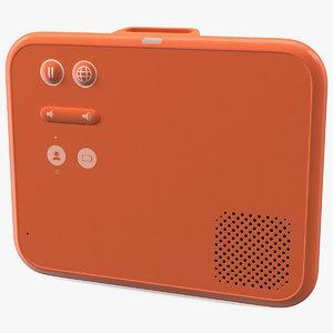 wearable speech translation device 3D model