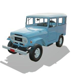 3D toyota land cruiser 1968 model