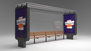3D bus stop passenger model