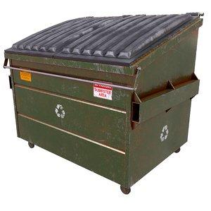3D pbr dumpster model