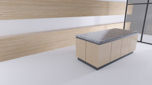 kitchen clean design 3D model