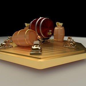 chinese barrels 3D model