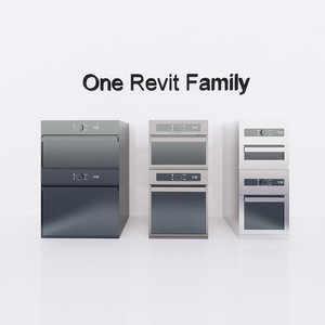 parametric oven microwave revit 3D model