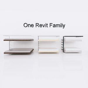 bunk bed revit family 3D model