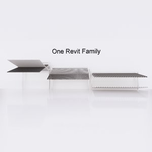 3D gate revit family -