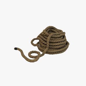 rope modelling 3D model