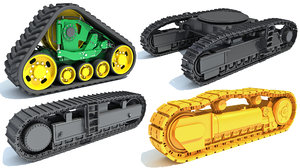 bulldozer excavator track 3D model