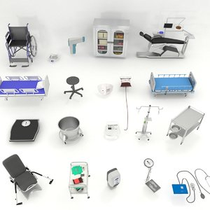 medical equipments 3D model