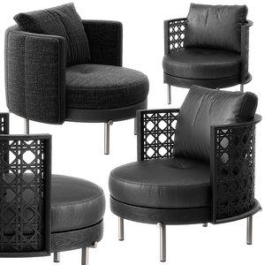 3D torii armchairs minotti chair