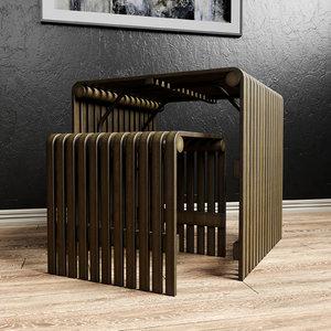 table furniture furnishings 3D model